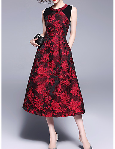 e9efcc8860a5 Γυναικεία Αργίες Γραμμή Α Φόρεμα - Φλοράλ