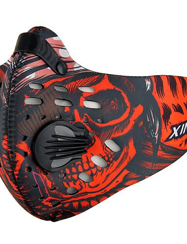povoljno Odjeća za vožnju biciklom-XINTOWN Sportska maska Face Mask Maska za lice s filtrom Neopren Prilagodljivo Vodootporno Vjetronepropusnost Prozračnost Anti-Magla Bicikl / Biciklizam Crn Crna / crvena Noir / Orange Ispušteni dušik