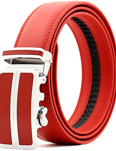 cheap Men's Belt-Men's Party / Work Leather Waist Belt Pleated
