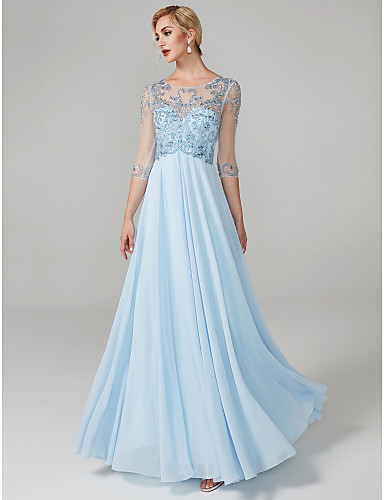 2b6995ea815 Ball Gown Jewel Neck Floor Length Chiffon See Through Prom   Formal Evening  Dress with Beading   Crystals by TS Couture® 6544925 2019 –  179.99