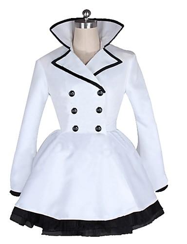 povoljno Maske i kostimi-Inspirirana RWBY Weiss Schnee Anime Cosplay nošnje Japanski Cosplay Suits Other Dugih rukava Kaput / Suknja / Traka / vrpca Za Muškarci / Žene
