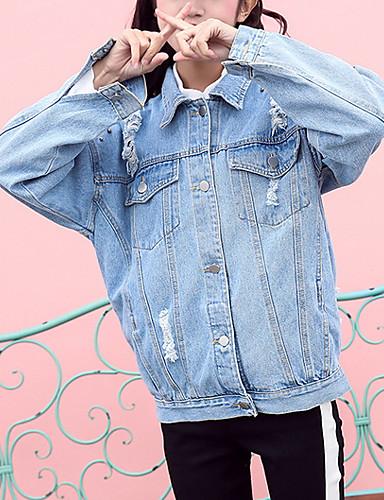 outlet in vendita stile limitato come acquistare Giacca di jeans Per donna Vintage - Multicolor, Colletto del ...