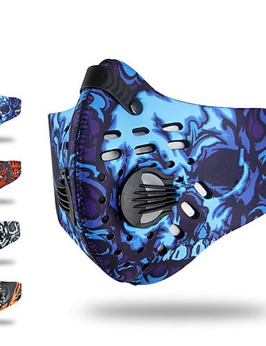 povoljno Odjeća za vožnju biciklom-XINTOWN Sportska maska Face Mask Maska za lice s filtrom Neopren Prilagodljivo Vjetronepropusnost Prozračnost Prašinu Antibakterijsko djelovanje Bicikl / Biciklizam Siva žuta Crvena Spandex Ispušteni