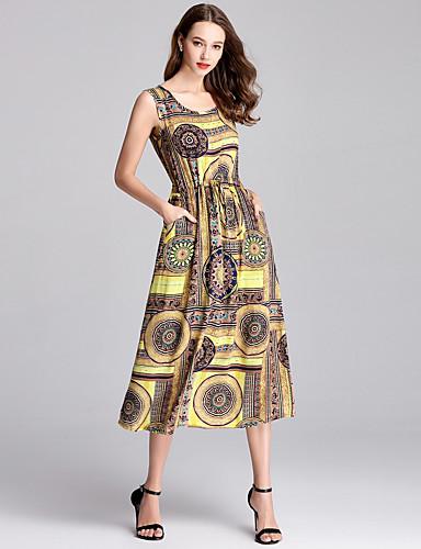 4ded6c604057 Women's Daily / Going out Vintage / Basic Sheath / Swing Dress - Animal  Print Spring Gray Khaki L XL XXL 6641443 2019 – $31.99