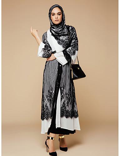 ad0cdc23753 Femme Grandes Tailles Bohème   Sophistiqué Maxi Ample Balançoire   Abaya   Kaftan  Robe - Dentelle   Maille
