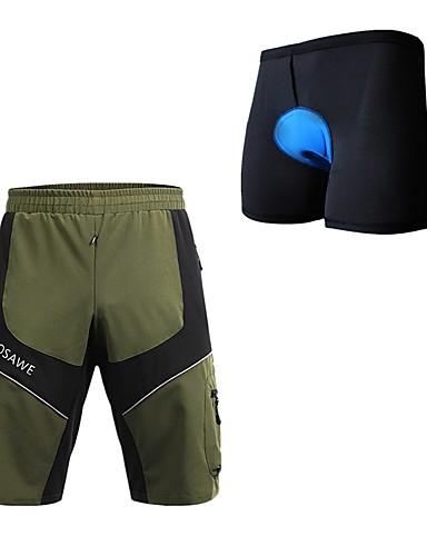 povoljno Biciklističke hlače, kratke hlače i tajice-WOSAWE Muškarci Biciklističke kratke hlače s jastučićima Kratke hlače za MTB Bicikl Podstavljene kratke hlače Kratke hlače za MTB Hlače Vodootporno Quick dry Reflektirajuće trake Sportski Kolaž