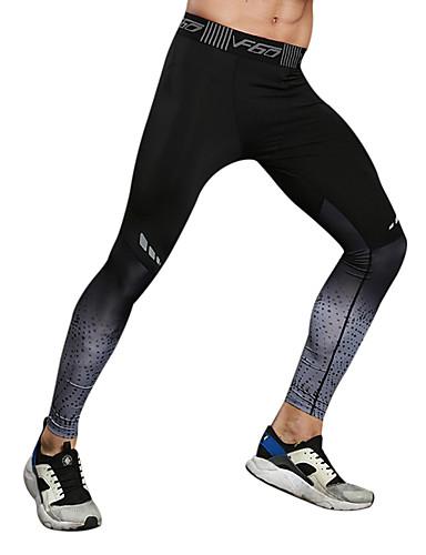 abordables Massive De Folie-WOSAWE Homme Collant Running Sports Collants Legging Spandex Fitness Exercice Physique Exercice Respirable Séchage rapide Décorations Réfléchissantes Sport Rouge Grise Dégradé de Couleur