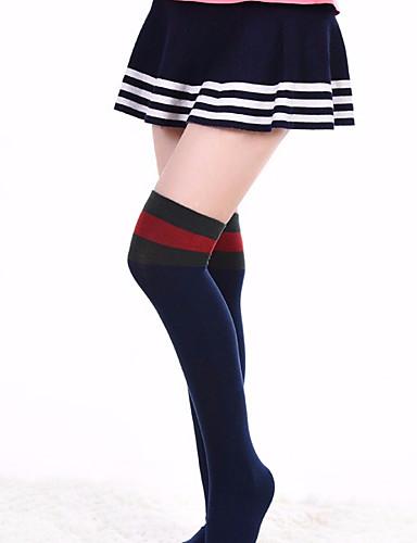 preiswerte Kindermode-Kinder Mädchen Baumwolle / Polyester Socken & Strümpfe Schwarz / Weiß / Grün Einheitsgröße