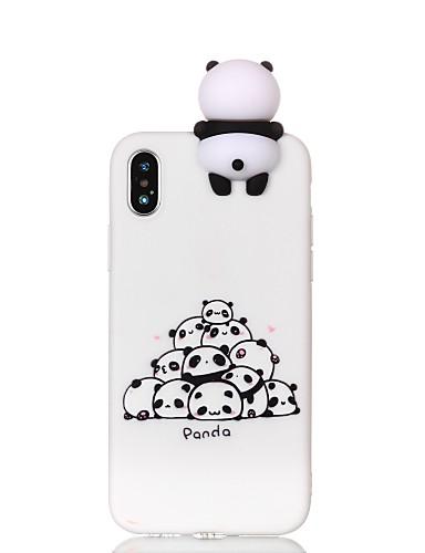 Etui Til Apple iPhone X / iPhone 8 Plus / iPhone 8 Mønster / GDS Bakdeksel Tegneserie / Panda Myk TPU