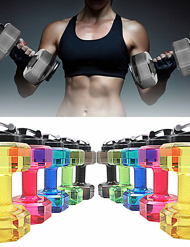 """cheap Massive Clearance Sale-Kettle Dumbbells Drinking Water Bottles 11"""" (28 cm) Diameter Plastics BPA free Personalized 2.2L Creative Exercise & Fitness Gym Workout For Unisex"""