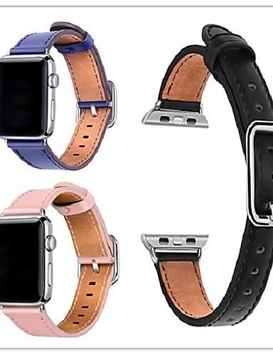 Pulseiras de Relógio para Apple Watch Series 5/4/3/2/1 Apple Fecho Clássico Couro Legitimo Tira de Pulso
