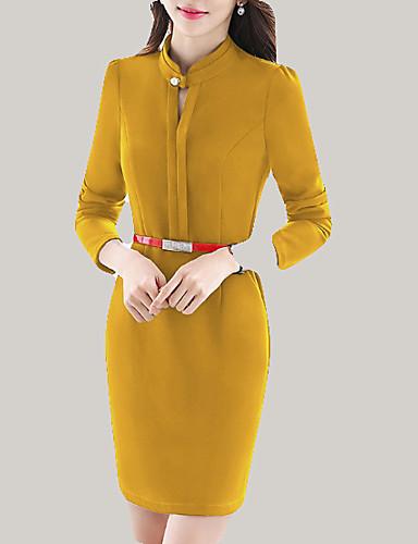2225d898a734 Per donna Taglie forti Moda città Taglia piccola Attillato Vestito - Con  perline