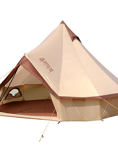 Χαμηλού Κόστους καλοκαίρι έκπτωση-8 άτομα Σκηνή Bell Γυμνή σκηνή Εξωτερική Αντιανεμικό Αδιάβροχο Profesional Μονής επίστρωσης Camping Σκηνή >3000 mm για Κατασκήνωση / Πεζοπορία / Εξερεύνηση Σπηλαίων Ταξίδι Βαμβάκι 400*400*250 cm