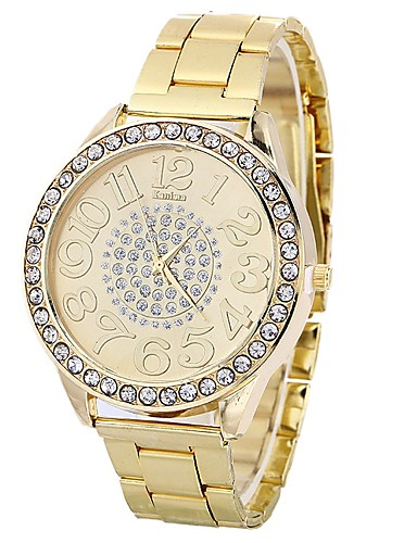 982482774af4 Mujer Reloj de Moda Reloj de diamantes Cuarzo Plata   Dorado   Oro Rosa  Esfera Grande Analógico damas Casual Moda - Dorado Plata Oro Rosa Un año  Vida de la ...