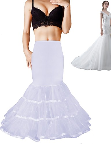 cheap Wedding Slips-Wedding / Formal Evening Slips Chinlon / Spandex / Organza Floor-length / Tea-Length Shaping Slips / Voiles & Sheers with Ribbons / Draping / Ruching