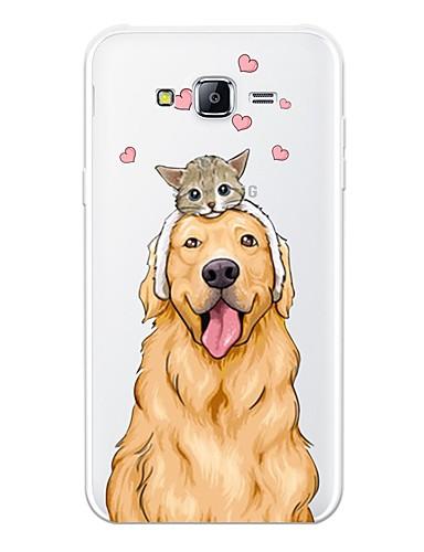 Etui Til Samsung Galaxy J7 (2017) / J7(2016) / J7 Mønster Bakdeksel Katt / Hund / Tegneserie Myk TPU