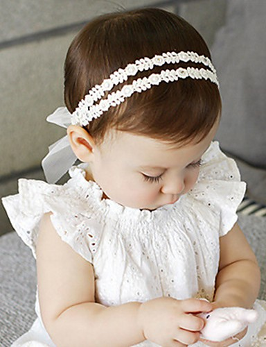 cheap Top Sellers-Infant Unisex Roman Knit Hair Accessories White One-Size / Headbands