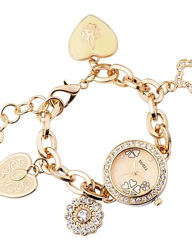 ASJ Dame Armbåndsur Japansk Quartz Sølv / Gylden Imitasjon Diamant Analog damer Luksus Fritid - Gull Sølv Ett år Batteri Levetid / SSUO 377