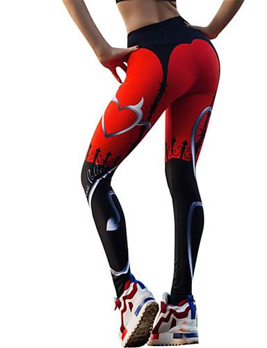 povoljno Odjeća za fitness, trčanje i jogu-Žene Hlače za jogu Srce Zumba Trčanje Fitness Biciklizam Hulahopke Tajice Odjeća za rekreaciju Mala težina Prozračnost Quick dry Rastezljivo