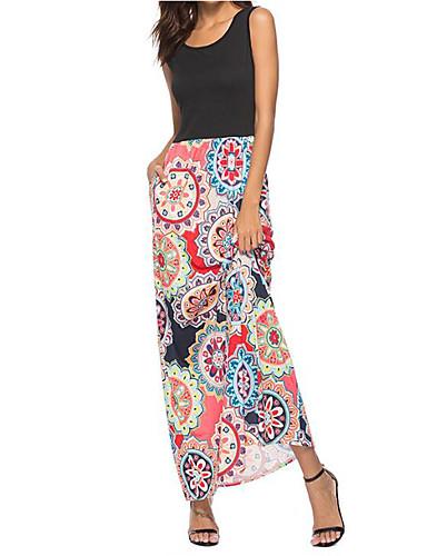 8d39eaa4a2ac Per donna Per uscire Moda città sofisticato Cotone Taglia piccola Fodero  Vestito - Con stampe