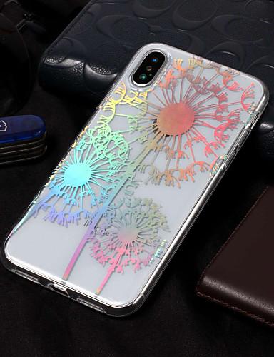 Etui Til Apple iPhone X / iPhone 8 Plus / iPhone 8 Belegg / Mønster Bakdeksel løvetann / Blomsternål i krystall Myk TPU