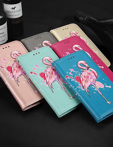 Capinha Para Samsung Galaxy Note 8 Carteira / Porta-Cartão / Com Suporte Capa Proteção Completa Flamingo Rígida PU Leather