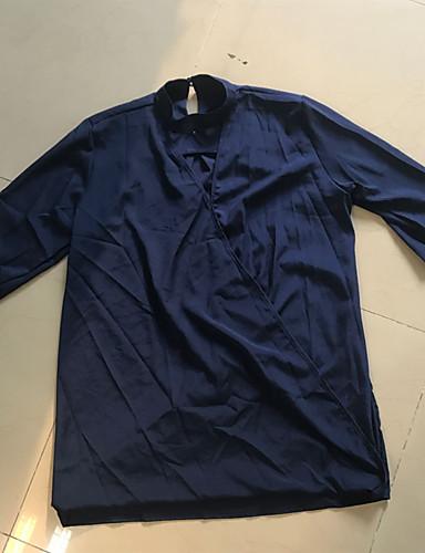 billige Dametopper-V-hals Skjorte Dame - Ensfarget Ut på byen Svart