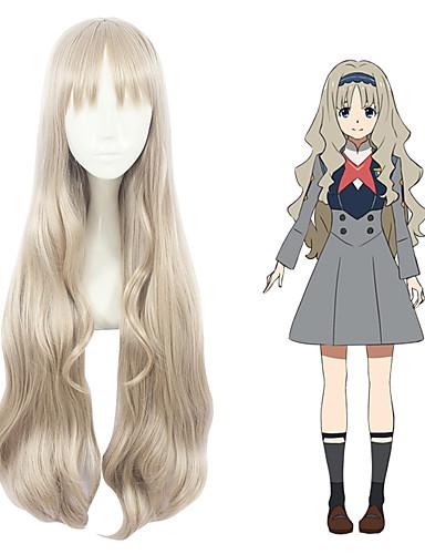 levne Cosplay paruky-Drahoušku v Franxu cosplay Cosplay Paruky Vše 32 inch Horkuvzdorné vlákno Blonďatá Anime
