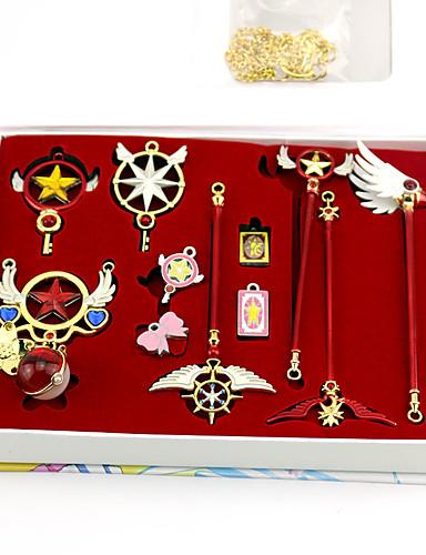 povoljno Anime cosplay-More Accessories Inspirirana Cardcaptor Sakura Sakura Kinomoto Anime Cosplay Pribor Ogrlice Privjesak Legura Noć vještica