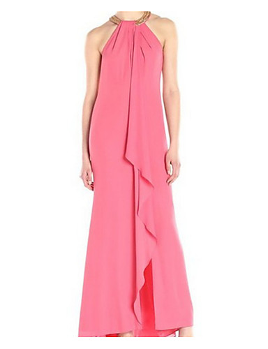 444c591a15b9 Γυναικεία Αργίες Βασικό   Κομψό στυλ street Βαμβάκι Λεπτό T Shirt Φόρεμα -  Μονόχρωμο