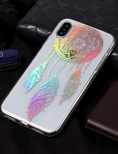 Etui Til Apple iPhone X / iPhone 8 Plus / iPhone 8 IMD / Mønster Bakdeksel Drømmefanger / Blomsternål i krystall Myk TPU