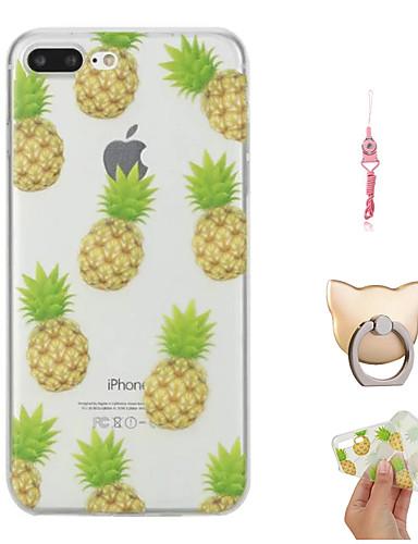 Etui Til Apple iPhone X / iPhone 8 Plus / iPhone 8 Mønster Bakdeksel Frukt Myk TPU
