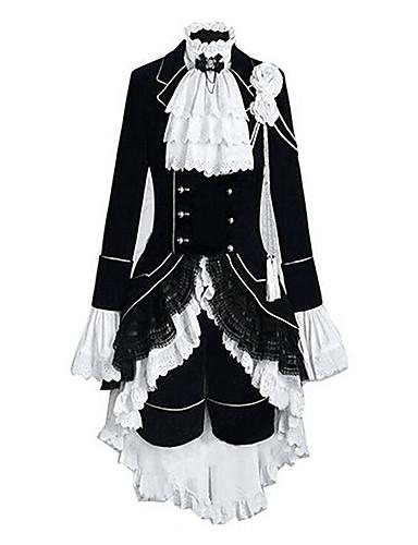 povoljno Maske i kostimi-Inspirirana Crna Butler Ciel Phantomhive Anime Cosplay nošnje Japanski Cosplay Suits Color block / Kolaž Dugih rukava Mellény / Shirt / Suknja Za Muškarci / Žene / Glava