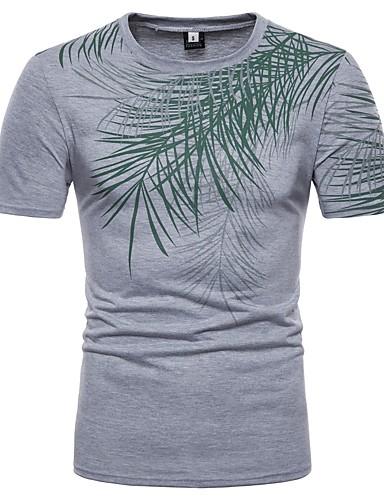 853ebc291c9e Ανδρικά T-shirt Βαμβάκι Φλοράλ Στρογγυλή Λαιμόκοψη   Παρακαλούμε επιλέξτε  ένα μέγεθος μεγαλύτερο από το κανονικό σας μέγεθος. 6735216 2018 –  14.99