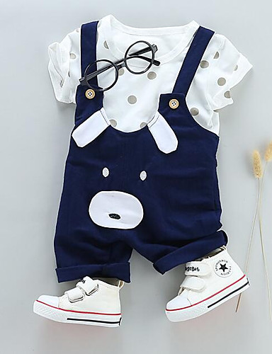 preiswerte Kinder Mode Kollektion Ausverkauf-Baby Jungen Street Schick Alltag Solide Kurzarm Standard Kleidungs Set Rote