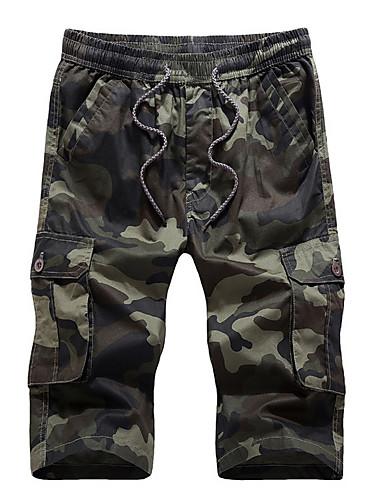 Hombre 6685761 2019 Corte Shorts Ancho Pantalones Militar camuflaje qBxSrqzw