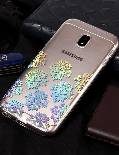 Etui Til Samsung Galaxy J7 (2017) / J7(2016) / J7 IMD / Mønster Bakdeksel Blomsternål i krystall Myk TPU