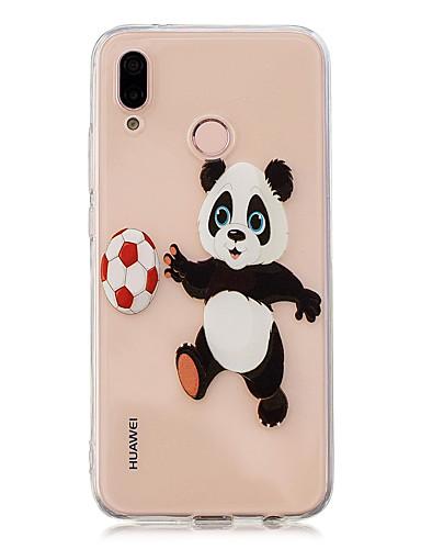 Etui Til Huawei Huawei P20 / Huawei P20 Pro / Huawei P20 lite Gjennomsiktig / Mønster Bakdeksel Panda Myk TPU / P10 Lite