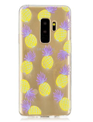 Etui Til Samsung Galaxy S9 / S9 Plus / S8 Plus Gjennomsiktig / Mønster Bakdeksel Frukt Myk TPU