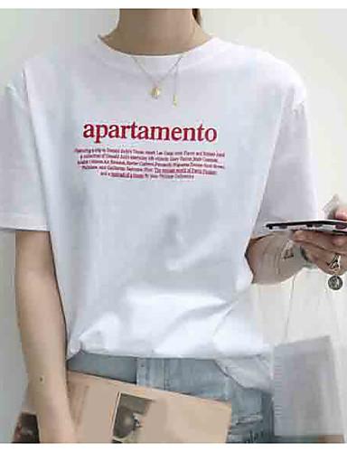 billige Dametopper-T-skjorte Dame - Bokstaver Blå