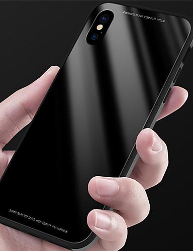 Etui Til Apple iPhone X / iPhone 8 Plus / iPhone 8 Speil Bakdeksel Ensfarget Hard Herdet glass