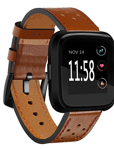 Klokkerem til Fitbit Versa Fitbit Moderne spenne Ekte lær Håndleddsrem