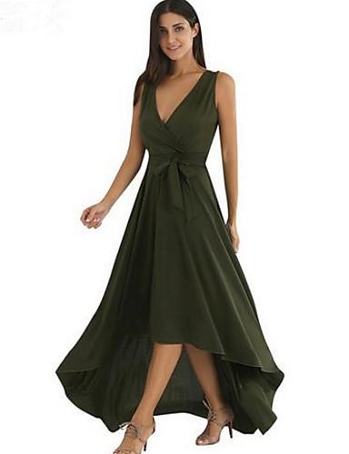 5627464121a4 Γυναικεία Βίντατζ   Βασικό T Shirt   Swing Φόρεμα - Μονόχρωμο Μακρύ    Ασύμμετρο 6678173 2019 –  13.64