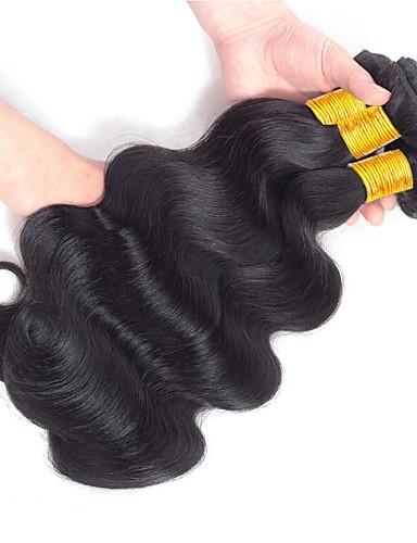 preiswerte Ausverkauf-3 Bündel Indisches Haar Wellen Echthaar Menschenhaar spinnt Echthaar Haarverlängerungen 8-28 Zoll Naturfarbe Menschliches Haar Webarten Schlussverkauf Für Damen dunkler Hautfarbe Haarverlängerungen