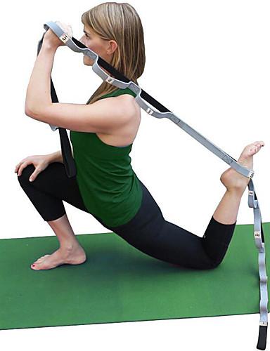 זול ומפציצה מכירת חיסול-רצועה יוגה כותנה למתוח עמיד חגורת אבזם D פיזיותרפיה מְתִיחָה משפר גמישות יוגה פילאטיס כושר גופני ל