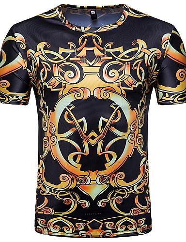 048364025217 Ανδρικά T-shirt Παραλία Βαμβάκι Συνδυασμός Χρωμάτων Στρογγυλή Λαιμόκοψη  Λεπτό Στάμπα   Κοντομάνικο 6711828 2019 –  14.99