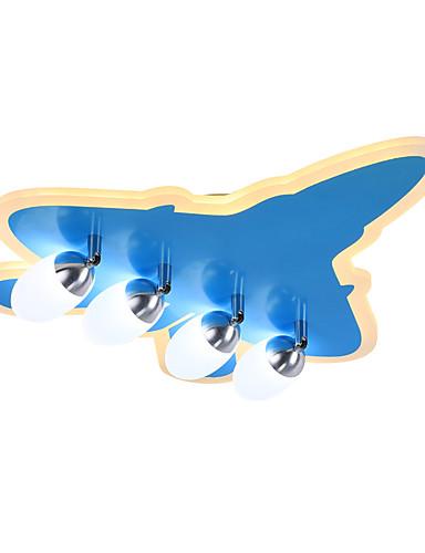 preiswerte ChristmasEarlyBird2019-ZHISHU 4-Licht Unterputz Raumbeleuchtung Lackierte Oberflächen Acryl Glas Abblendbar 220-240V Dimmbar mit Fernbedienung Inklusive Glühbirne / integrierte LED