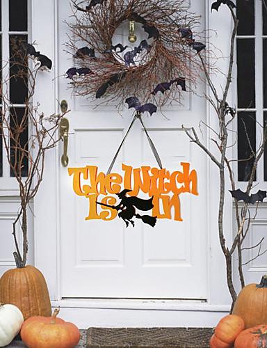 preiswerte Partyzubehör-Halloween Vließstoff / Nicht gewebt Hochzeits-Dekorationen Häuser Winter