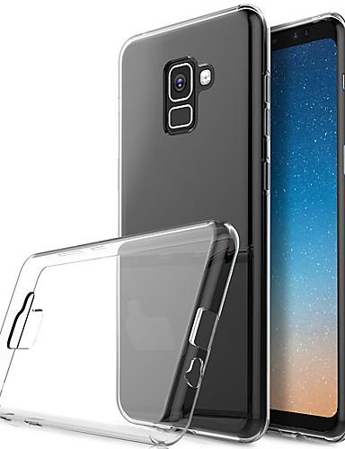 Etui Til Samsung Galaxy Galaxy A7(2018) Gjennomsiktig Bakdeksel Ensfarget Myk TPU