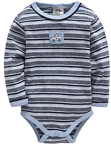 preiswerte Mode für Jungs-Baby Jungen Grundlegend Alltag / Festtage Gestreift Langarm Baumwolle Body Blau